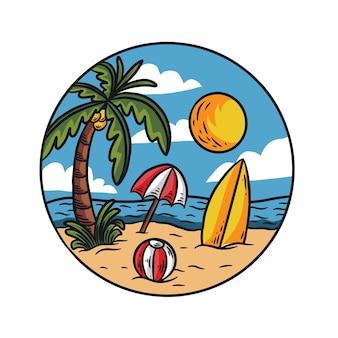 Handdrawn letnie wakacje