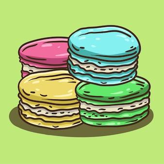 Handdrawn Macaroni Premium Wektorów