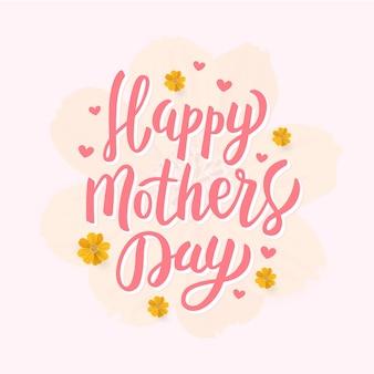 Handdrawn szczęśliwego dnia matki