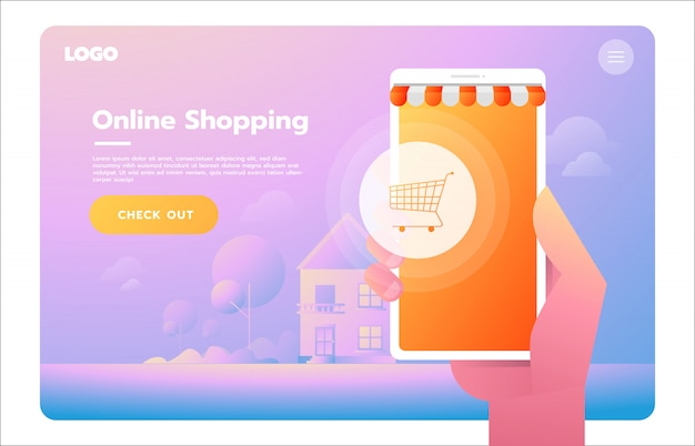 Handel elektroniczny, biznes elektroniczny, zakupy online, płatność, dostawa, proces wysyłki, sprzedaż