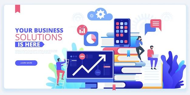 Handel na giełdzie umiejętność prowadzenia biznesu, etrading analiza danych, baner internetowy z usługami badawczymi