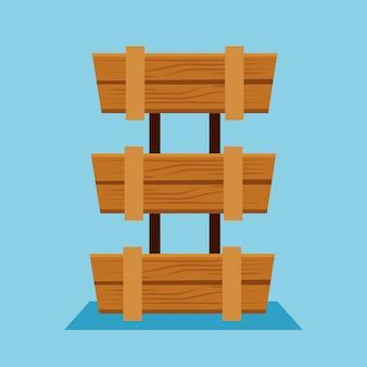 Handlowy drewniany kosz do sklepu