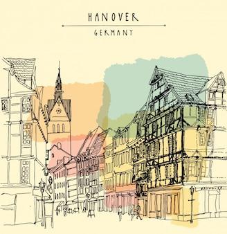 Hannover wzór tła