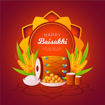 Happy baisakhi płaska tapeta