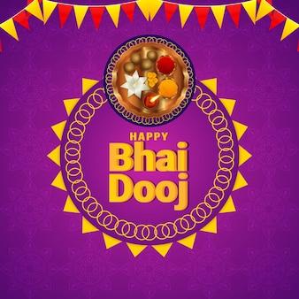 Happy bhai dooj festiwal indyjskiej uroczystości rodzinnej