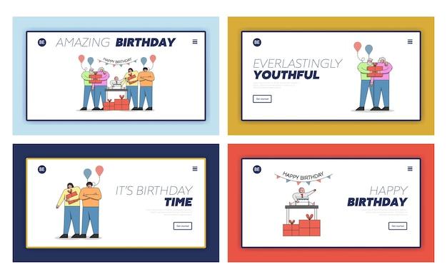 Happy birthday celebrationludzie świętują pierwsze urodziny dziecka