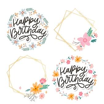 Happy birthday napis kaligrafii sloganem