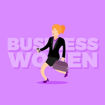 Happy business women