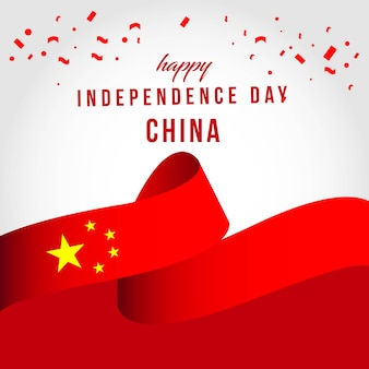 Happy china independent day szablon wektora