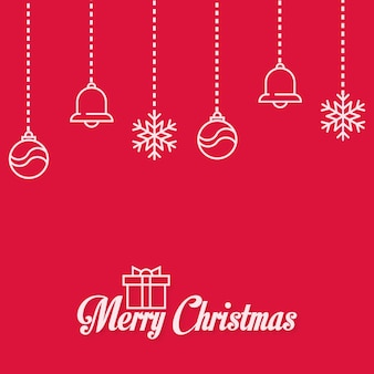 Happy christmas bell gift background design