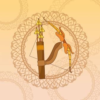 Happy dasera festiwal indii