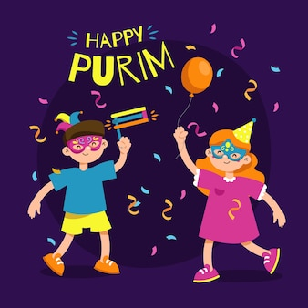 Happy day purim party
