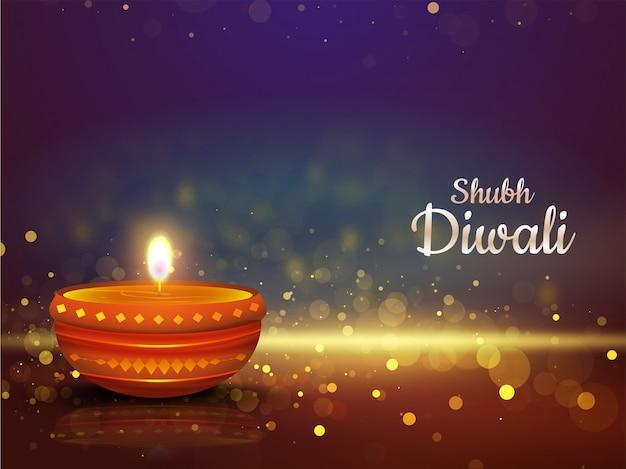 Happy diwali background.