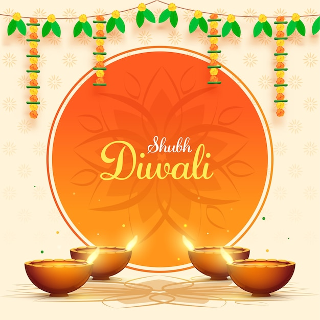 Happy diwali concept