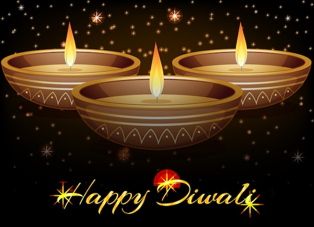 Happy diwali festival kartkę z życzeniami