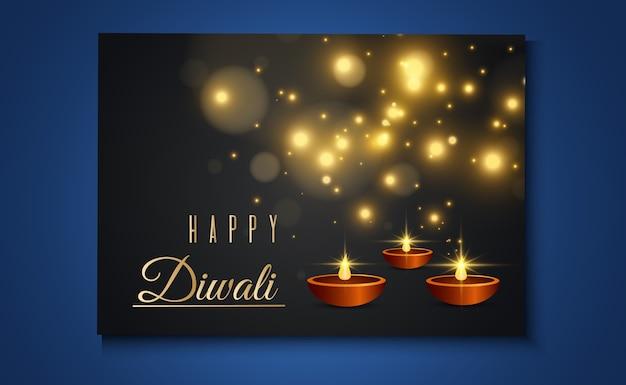 Happy diwali kartki z życzeniami luksusowa kolekcja szablonów zaproszeń na świąteczne indyjskie światła