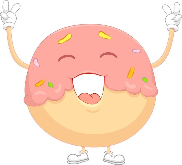 Happy donut w tenisówkach