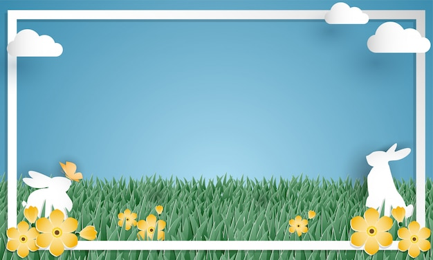 Happy easter day background.