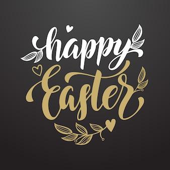 Happy easter kaligrafia tekst wakacje kartkę z życzeniami