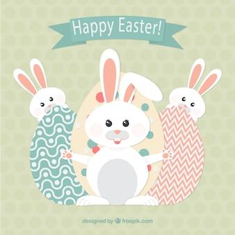 Happy easter z króliczkami