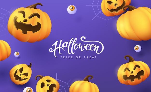Happy halloween banner lub tło zaproszenie na przyjęcie