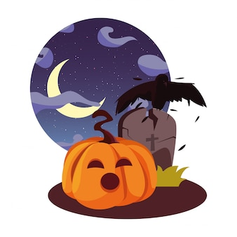 Happy halloween celebracja ilustration