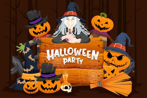 Happy halloween (cukierek albo psikus) plakat na zaproszenie