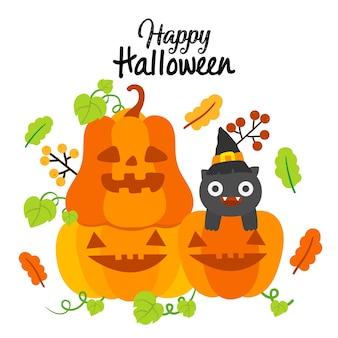 Happy halloween dynia wektor.
