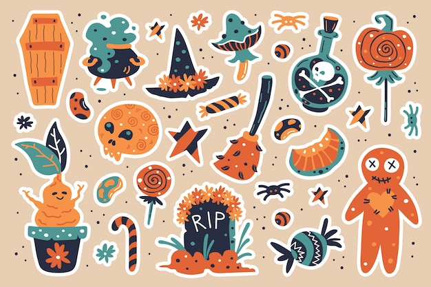 Happy halloween elementów projektu.