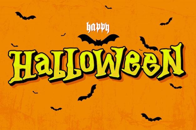 Happy halloween napis powitanie