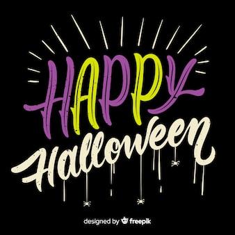 Happy halloween napis tło