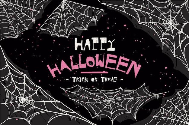 Happy halloween pajęczyna tło