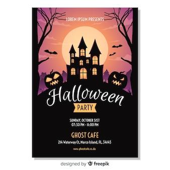 Happy halloween party plakat szablon