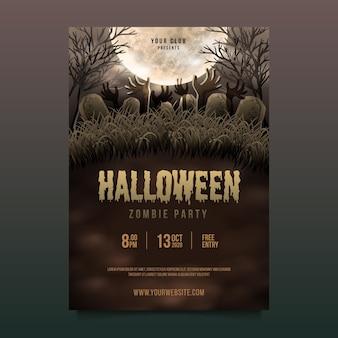 Happy halloween party plakat