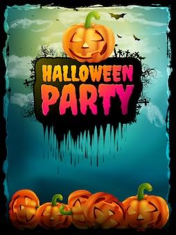 Happy halloween party plakat.