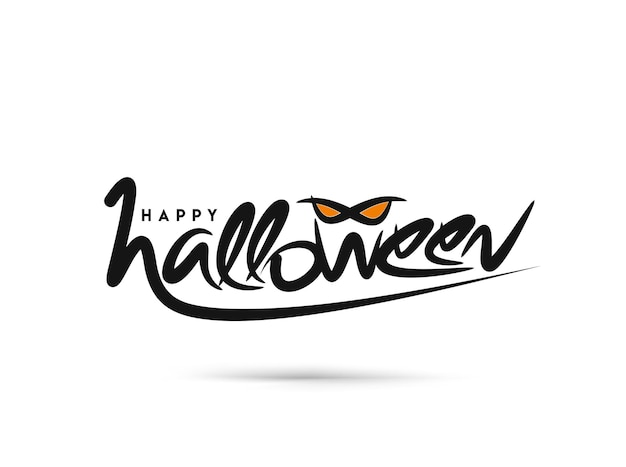 Happy halloween party z życzeniami kaligrafia - baner halloween lub plakat.