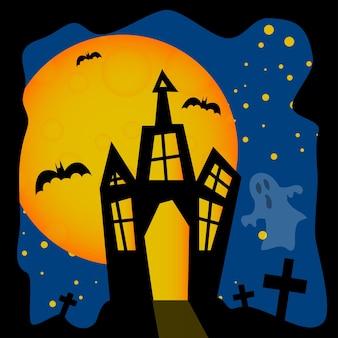 Happy halloween plakat ilustracji wektorowych