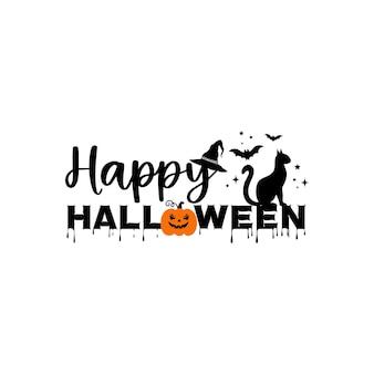 Happy halloween plakat, kartkę z życzeniami, zaproszenie na przyjęcie. ilustracja wektorowa.