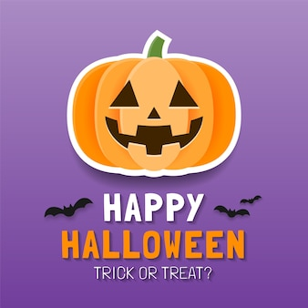 Happy halloween plakat szablon lub szablon transparent