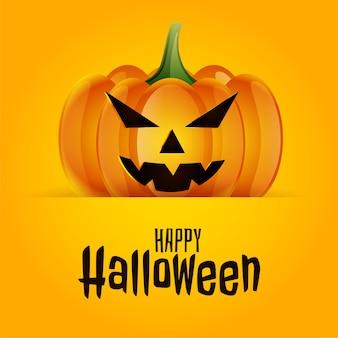 Happy halloween straszna straszna dynia tło karty