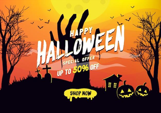 Happy halloween szablon transparent sprzedaż.