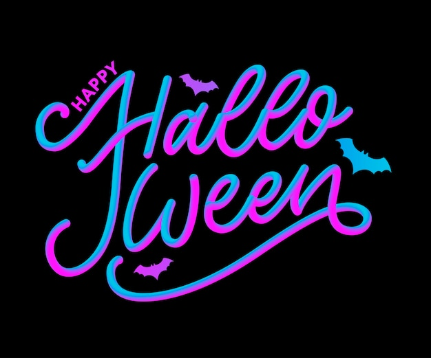 Happy halloween tekst transparent, napis kaligrafii