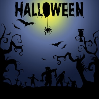 Happy halloween tekst transparent, wektor
