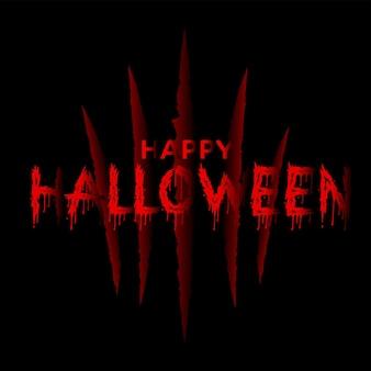 Happy halloween tło z czerwonym pazurem scrach. wektor