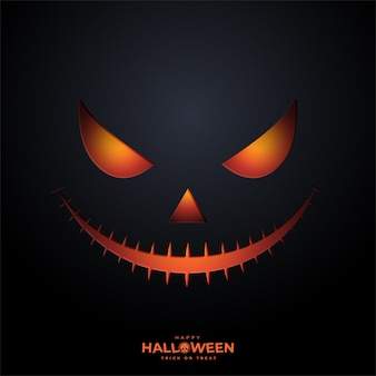 Happy halloween twarz dyni