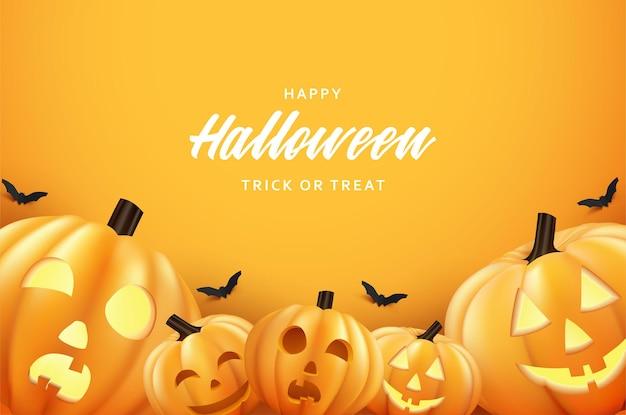 Happy halloween w tle w październiku