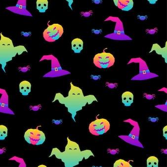 Happy halloween wakacje bez szwu wzór do pakowania papierowej tkaniny tekstylnej tapety na imprezę