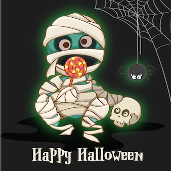 Happy halloween z mumii tle