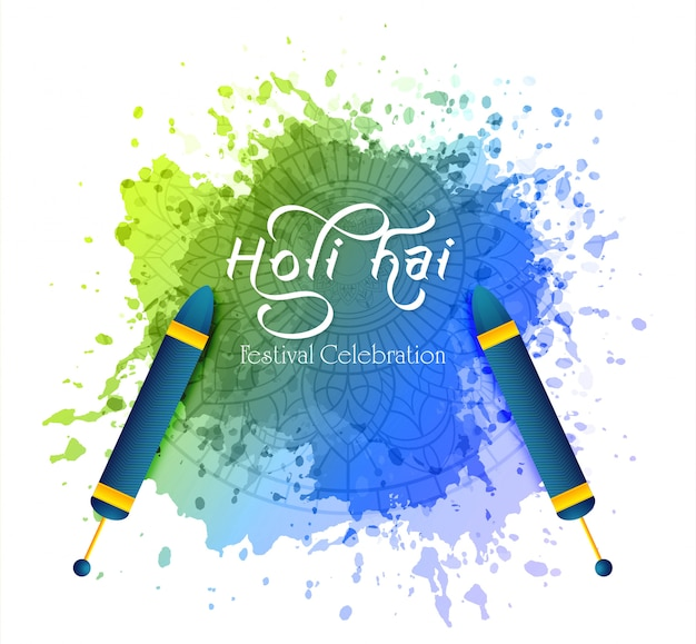 Happy holi indian wiosenny festiwal kolorów pozdrowienia