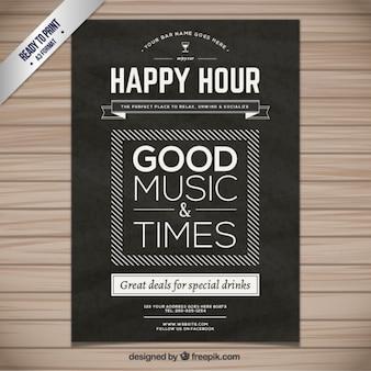 Happy hour plakat